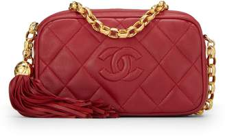 bd9b7fb55 Chanel Red Lambskin Diamond 'CC' Camera ...