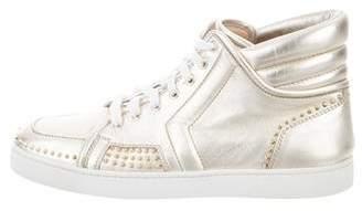 Christian Louboutin Metallic Spike-Embellished Sneakers