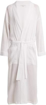POUR LES FEMMES Patch-pocket cotton-gauze robe
