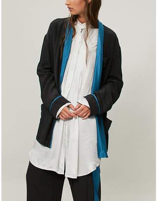 Haider Ackermann Draped silk blazer