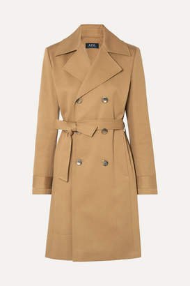 A.P.C. Alexis Cotton-drill Trench Coat - Beige
