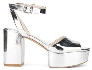 Kenneth Cole New York Pheonix Metallic Platform Sandals