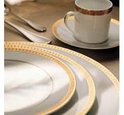"Christofle Malmaison Gold"" Oval Platter"