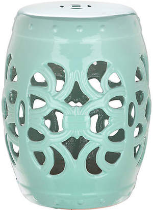 One Kings Lane Kono Garden Stool - Light Blue