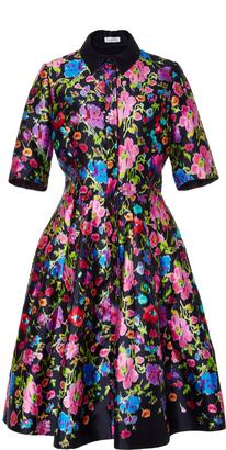 Oscar de la Renta Short Sleeve A Line Dress $2,490 thestylecure.com