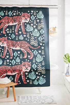 Deny Designs Andrea Lauren For Deny Safari Tiger Shower Curtain