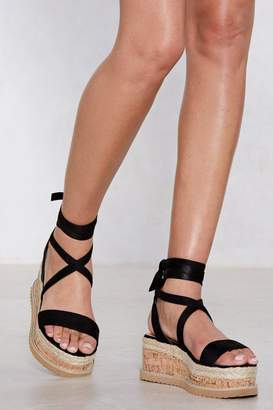 Nasty Gal Enough with the Cork Platform Sandal