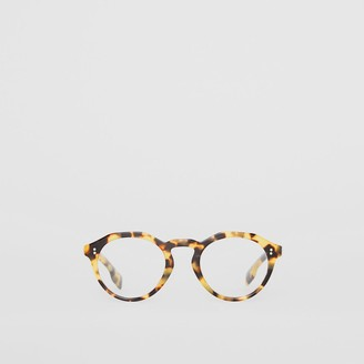 Burberry Keyhole Round Optical Frames, Brown