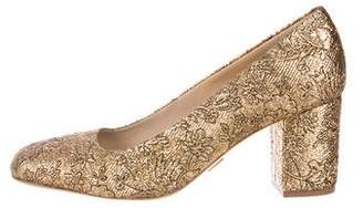 Michael Kors Brocade Square-Toe Pumps