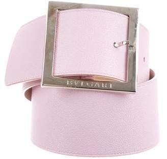 Bvlgari Leather Buckle Belt