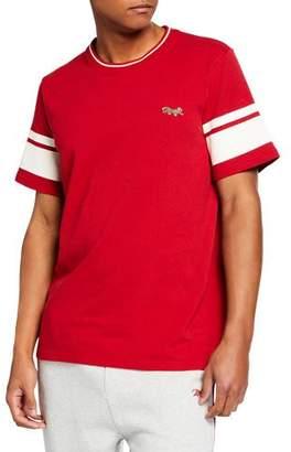 Ovadia & Sons Men's Short-Sleeve Leopard Varsity T-Shirt