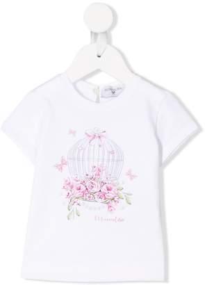 MonnaLisa birdcage t-shirt