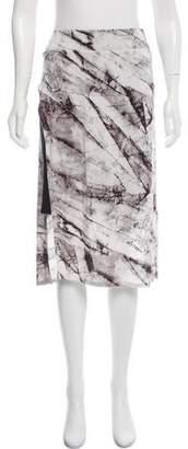 Helmut Lang Overlay Knee-Length Skirt