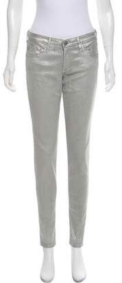 Adriano Goldschmied Metallic Mid-Rise Jeans w/ Tags