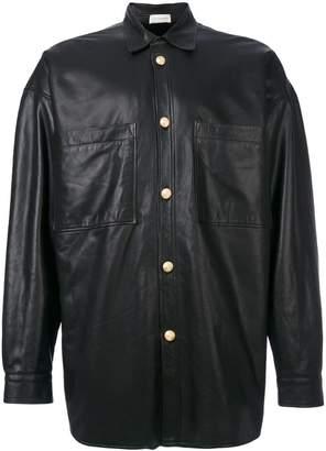 Faith Connexion lamb skin button jacket