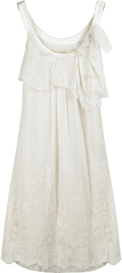 Hanii Y Lace ruffle dress