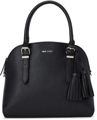 Nine West Black Carrigan Dome Satchel