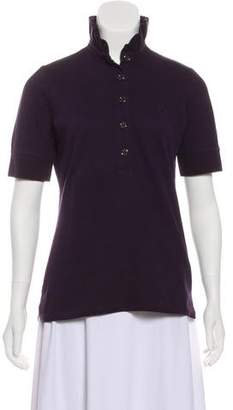 Burberry Ruffled Polo Top