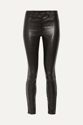 J Brand - 8001 Leather Skinny Pants - Black $1,000 thestylecure.com