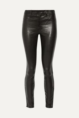 J Brand 8001 Leather Skinny Pants - Black