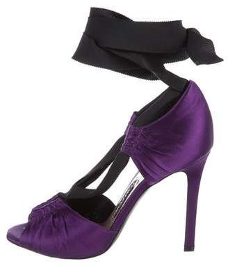 Tom Ford Satin Ruched Sandals