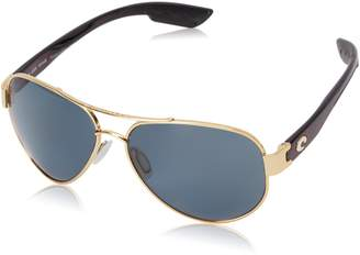 Costa del Mar Unisex-Adult South Point SO 26 OGP Polarized Aviator Sunglasses, Gold, 59 mm