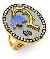 Holly Dyment Holly Dyment Sad Flower Sapphire, Diamond& 18K Yellow Gold Ring