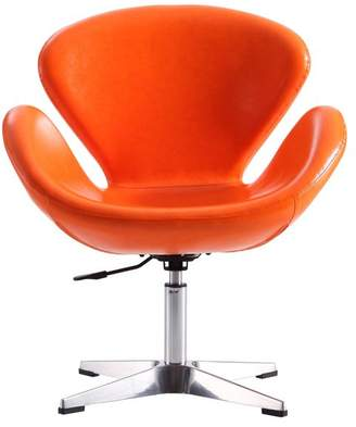At Houzz · CEETS Raspberry Leatherette Adjustable Swivel Chair