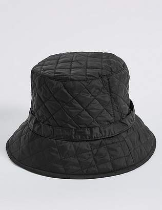 Marks and Spencer Quilted Popper Strap Winter Hat