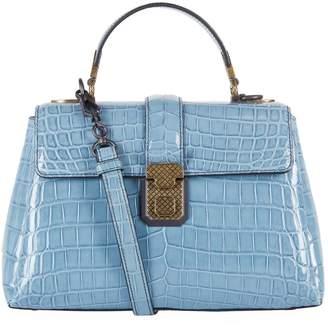 Bottega Veneta Small Crocodile Leather Piazza Top Handle Bag