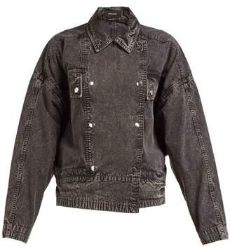 Isabel Marant Thalia Double Breasted Denim Jacket - Womens - Black