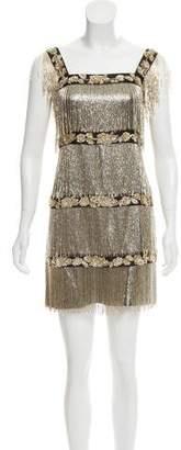 Alberta Ferretti Beaded Silk-Blend Dress