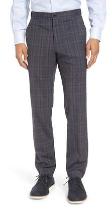 Hickey Freeman H BY Hybrid Plaid Jogger Flat Front Pant