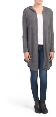 Juniors Made In Usa Hooded Cardigan