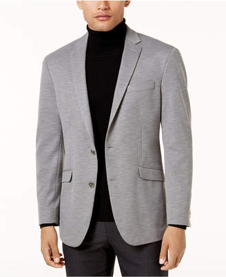 Kenneth Cole Reaction Men's Slim-Fit Light Gray Knit Soft-Tailored Sport Coat