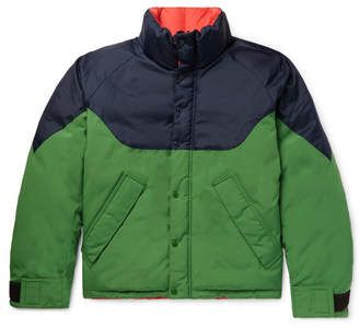 Burberry Reversible Colour-Block Nylon, Canvas and Quilted-Shell Down Jacket - Men - Green