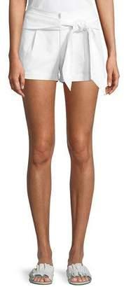 Rebecca Minkoff Yelinda Tie-Front Cotton Shorts