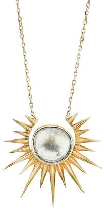 Celine Daoust Full Sun and Polki Diamond Slice Necklace