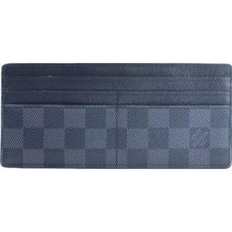 Louis Vuitton Navy Cloth Clutch Bag