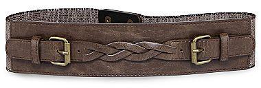JCPenney Linen Braided Stretch Belt
