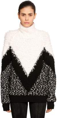 Givenchy (ジバンシイ) - GIVENCHY モヘア&ウール インターシャセーター