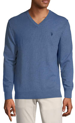 U.S. Polo Assn. USPA V Neck Long Sleeve Pullover Sweater