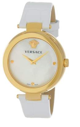 Versace Women's Ion Plated Embossed Watch, 38mm