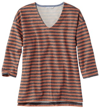L.L. Bean L.L.Bean Women's Signature French Sailor Knit Tee, V-Neck