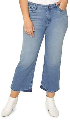 Sanctuary Curve Plus Nonconformist Wide-Leg Crop Jeans in Chelsea Blue