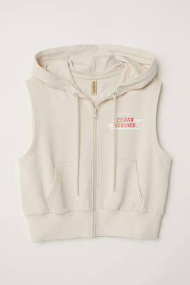 H&M Sleeveless Hooded Jacket - Beige