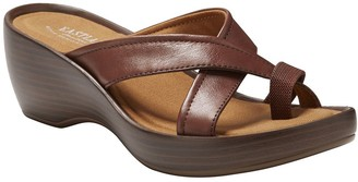 Eastland Leather Wedge Sandals - Willow
