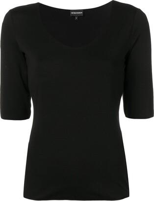 Emporio Armani scoop neck T-shirt
