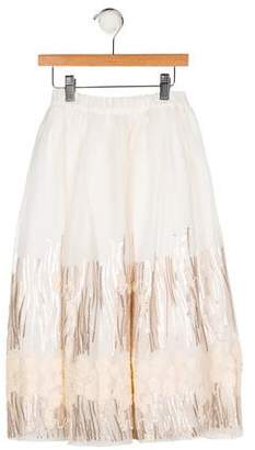 Billieblush Girls' Embellished Embroidered Skirt