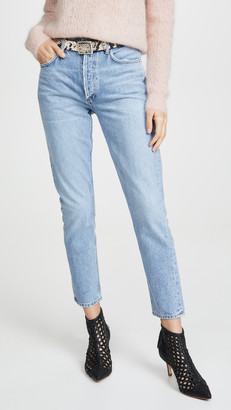 A Gold E Agolde Jamie Hi Rise Classic Jeans